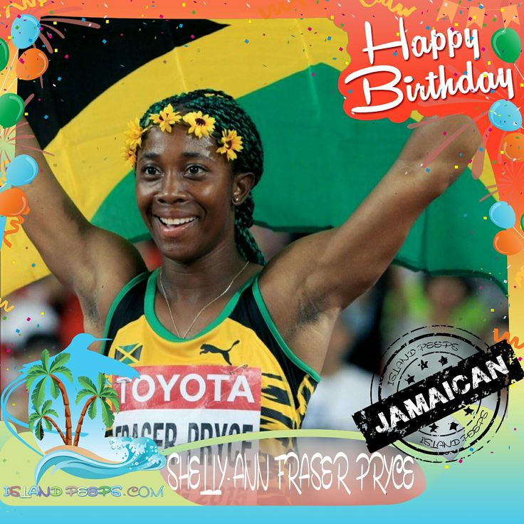 Happy Birthday Shelly-Ann Fraser Pryce!!! Jamaican born Olympic Gold Track & Field Medalist!!! Today we celebrate you!!! @RealShellyAnnfp #ShellyAnnFraserPryce #islandpeeps #islandpeedbirthdays #olympics #sprinter #fastestwomanonearth #jamaica
