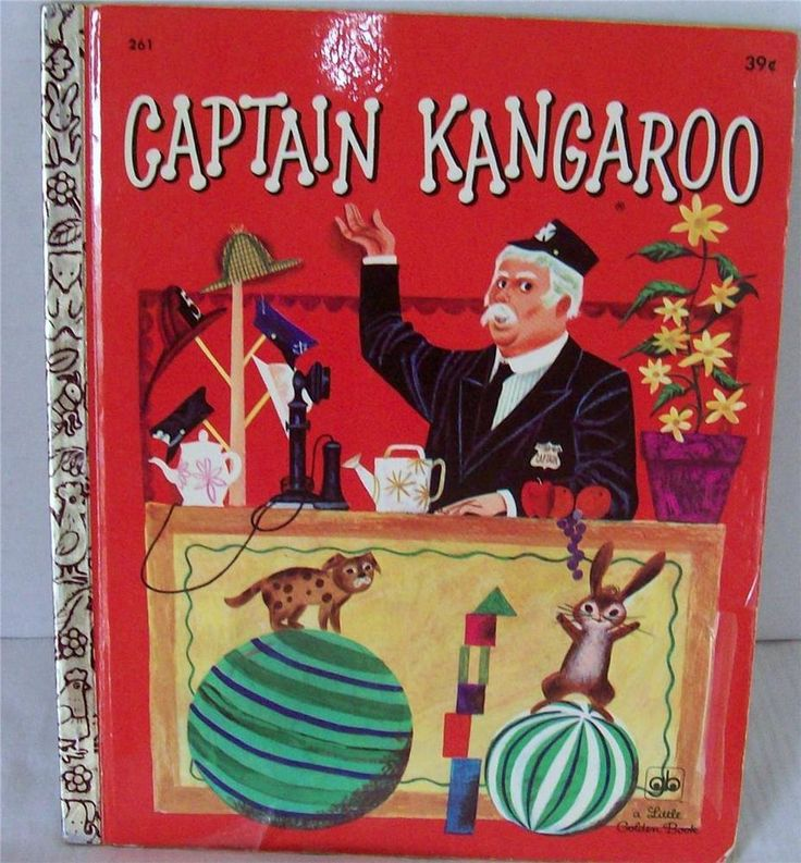 Captain Kangaroo Little Golden Book G Edition 1971 7th Print Org Price 39 cents