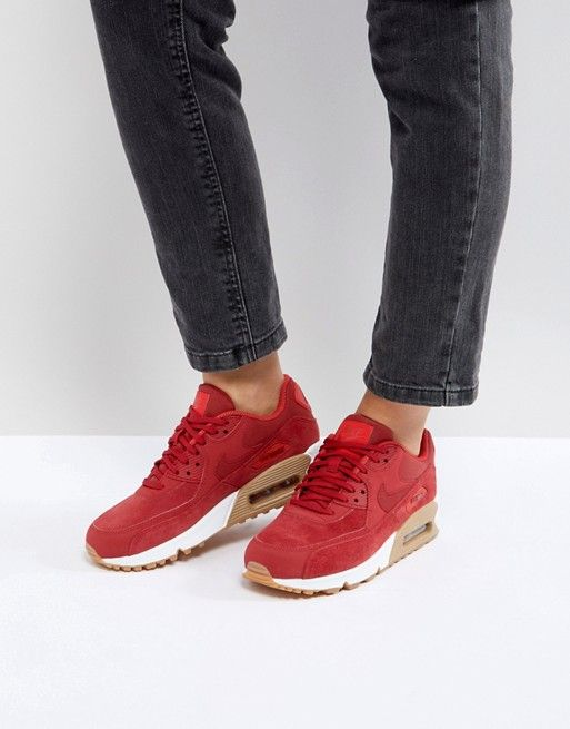 huge discount e7b51 75ea6 Nike   Zapatillas de deporte de ante con suela de goma en rojo Air Max 90