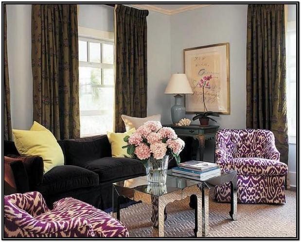 Sabrina Soto S Small Space Secrets Purple Living Room Brown Living Room Tan Living Room