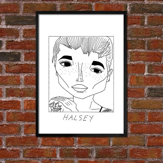 Badly Drawn Halsey  Poster   This is great XD