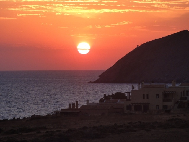 THE GREAT SUNRISE IN PANORMOS OF CRETE ISLAND IN OUR BEAUTIFUL GREECE #CRETE
