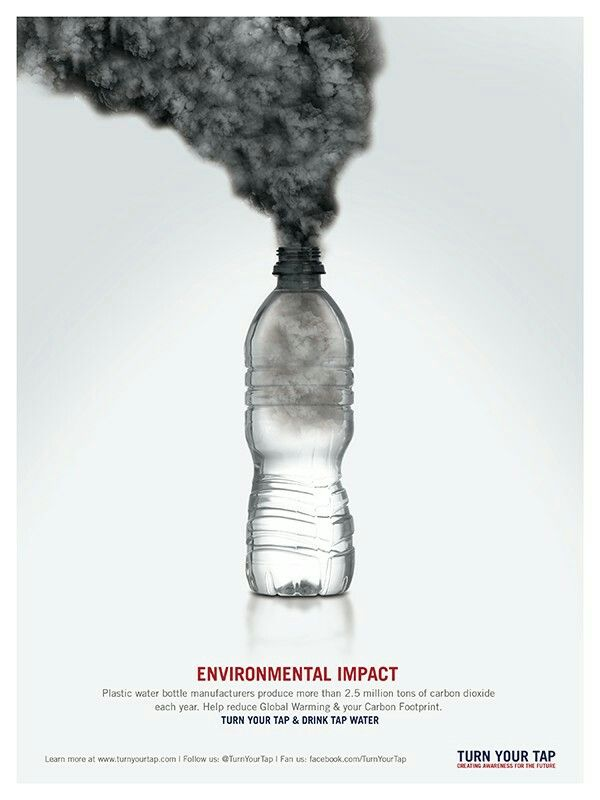 plastic water bottle manufacturers produce more than 2.5 million tons of carbon dioxide each year...