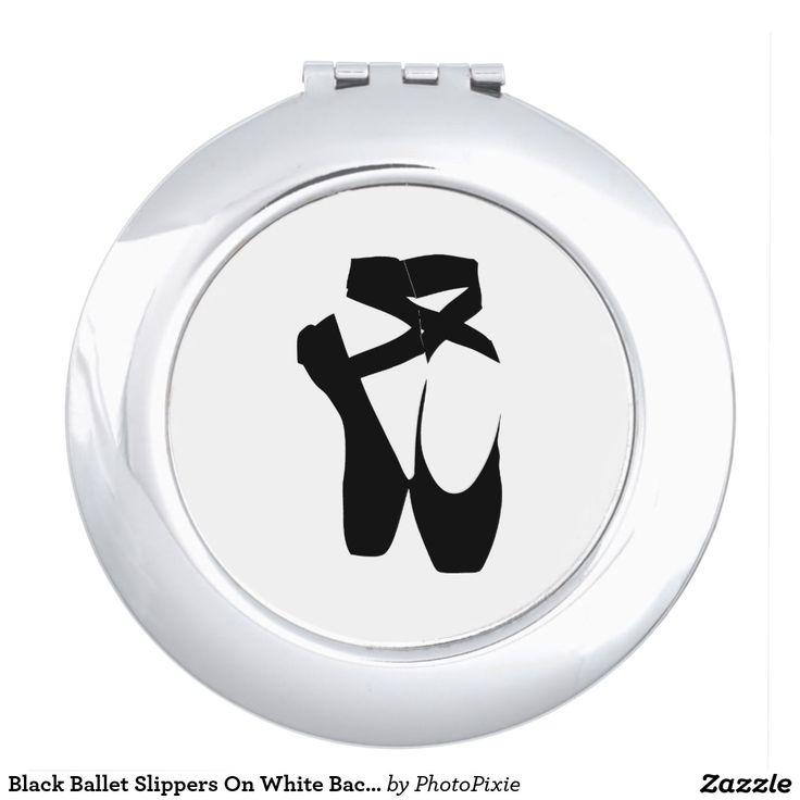 Black Ballet Slippers On White Background