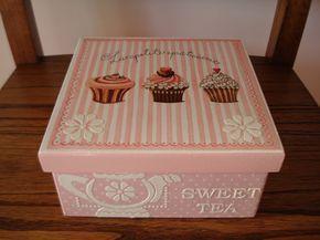 Naranja y Fucsia: Caja de Te Cupcakes