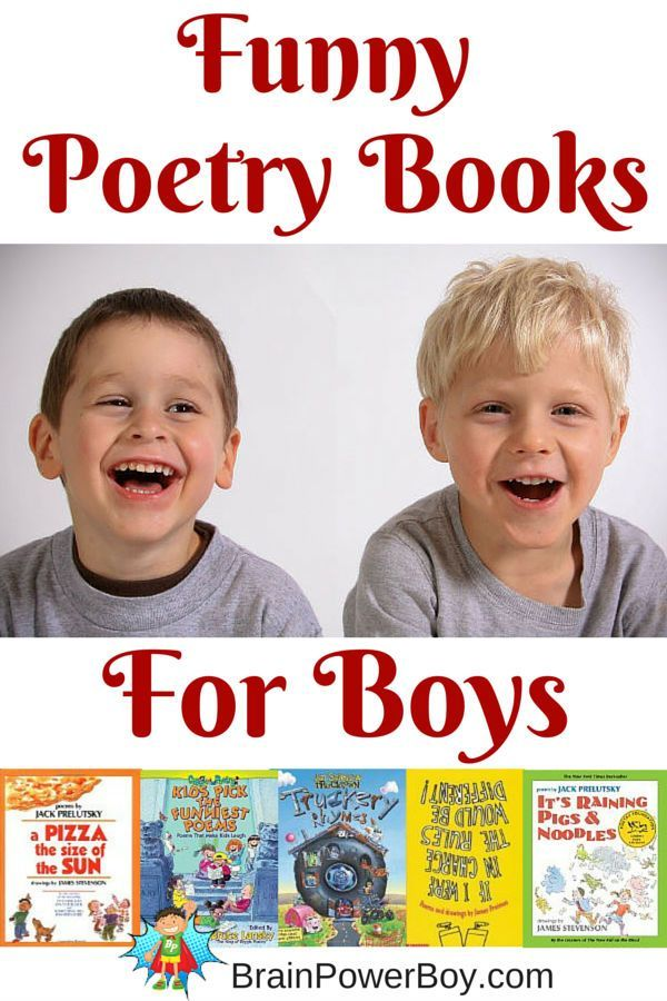 Poetry is great to help develop reading and writing skills. Try 11 super funny poetry books that are sure to be a hit with boys. #childrensbooks #boysread #poetry #bestbooksforboys