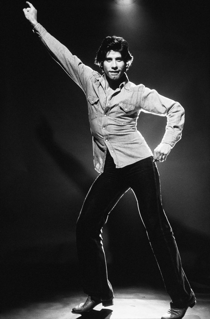 john travolta - saturday night fever dance pose