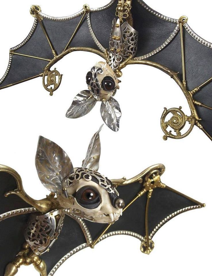Steampunk bat jewelry www.jessicajoslin.com Theses are so cute