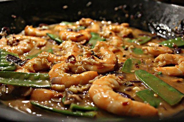 Krevety s chilli, koriandrem, limetkou a kokosovým mlékem - Chile Chipotle