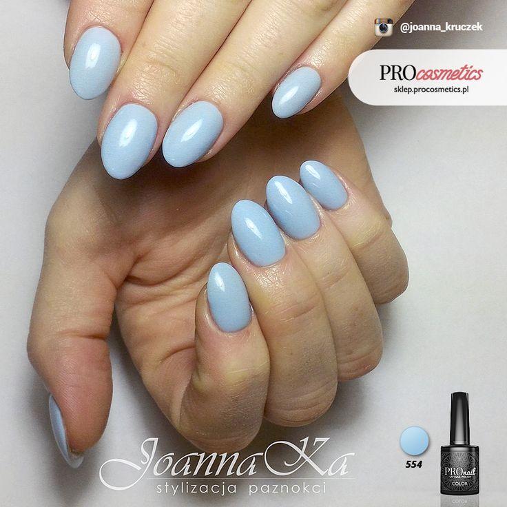 Paznokcie Baby Blue - Błękitne paznokcie - Paznokcie PROnail 554 żelowe hybrydowe