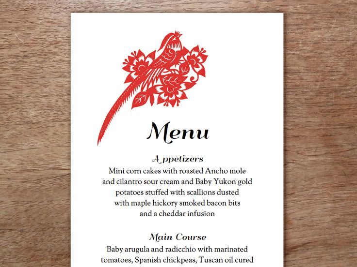 45 best images about Printable Wedding Menu Templates on ...
