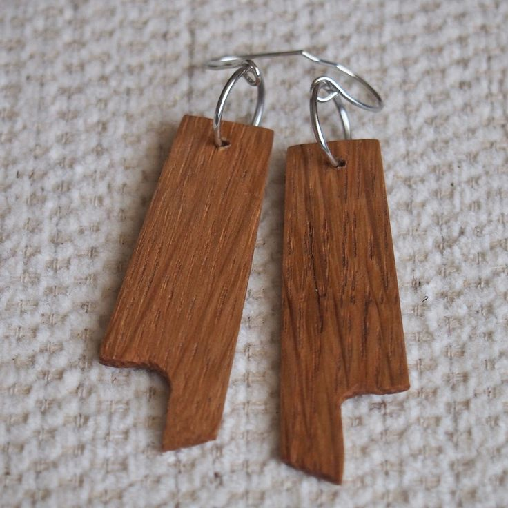 "15 Likes, 4 Comments - Eric Mcgrew (@erics_creative) on Instagram: ""Hand crafted reclaimed Whiteoak modern earrings. For sale- $15 A new set of #modernearrings that i…"""