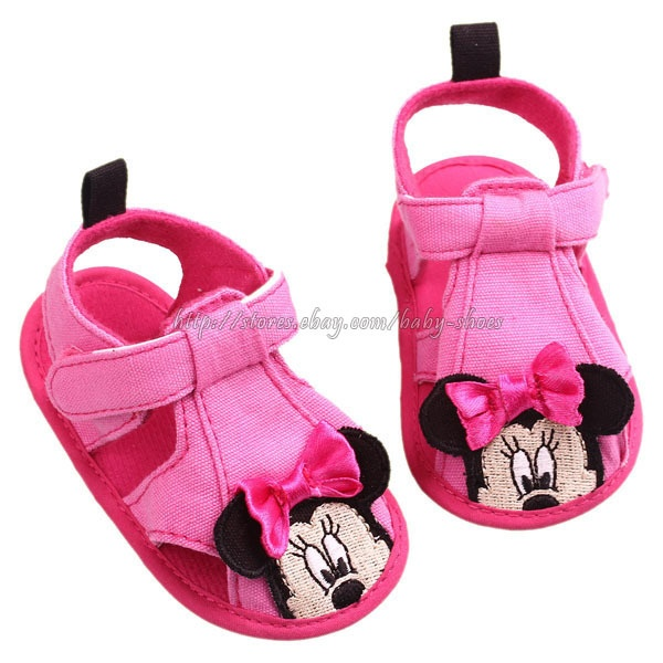 Baby Girls Minnie Mouse Sandals Soft Sole Toddler Walking Shoes Size 1 2 3 | eBay