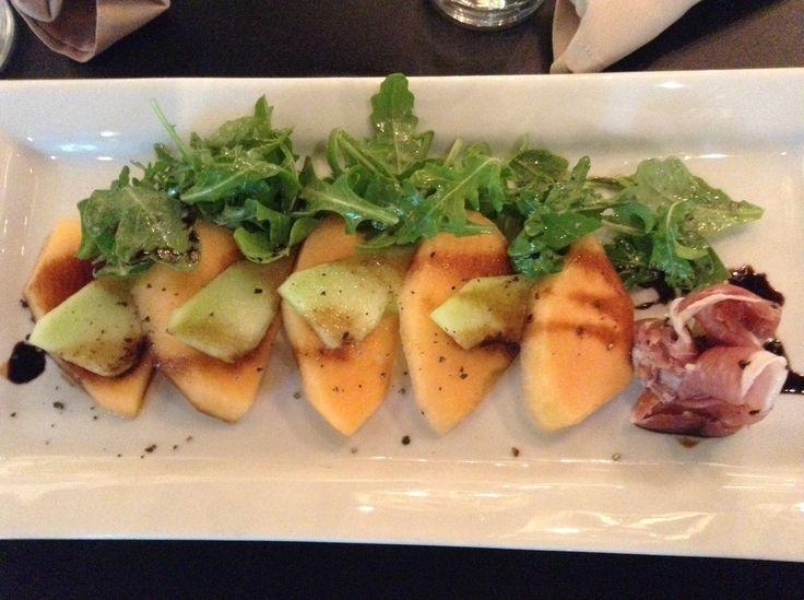 Luscious melon salad with prosciutto.