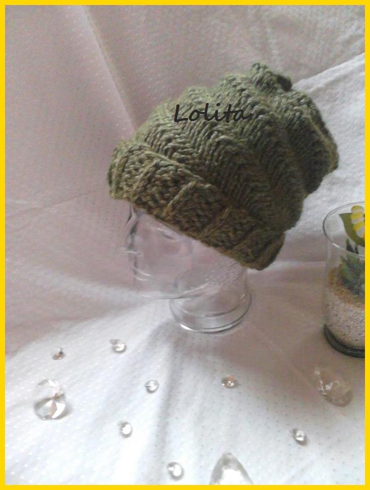 Mütze mit gedrehtem Muster