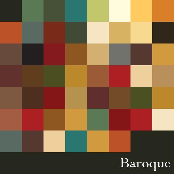 Baroque Color Palette | Design | Period color, Colour ...