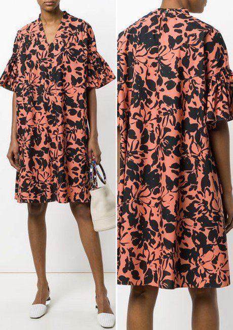 ae04650d132cd 23 Most Fashionable Oversized Designer Maternity Dresses. ASPESI floral  print oversized dress