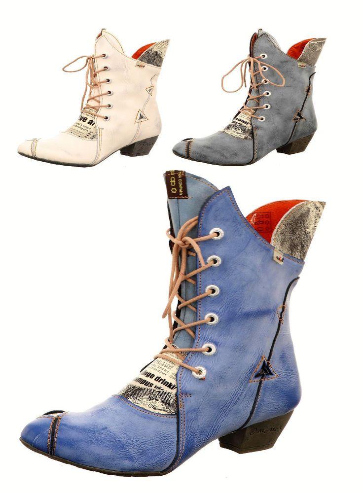 Leder Damen Stiefeletten Damenschuhe Boots Neu 36 bis 42 TMA 7011  | eBay