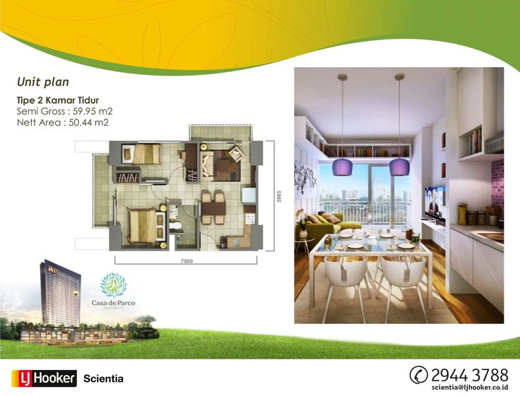 UNIT PLAN - 2 BED ROOM - MAGNOLIA Tower @ Casa de Parco Apartment, BSD City