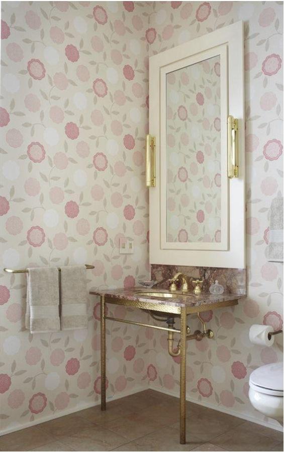 Pink and gold bathroom interior design pinterest