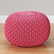 Pull Up a Pouf (Pink Knit)