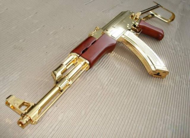 Golden AK-47 from Saddam's Armory