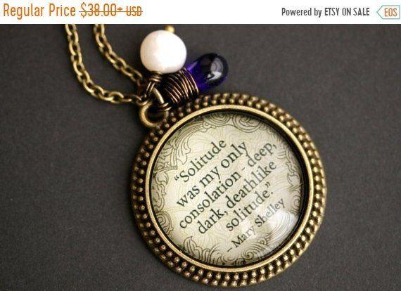 Emily Dickinson Black Glass Cabochon Necklace chain Pendant Wholesale
