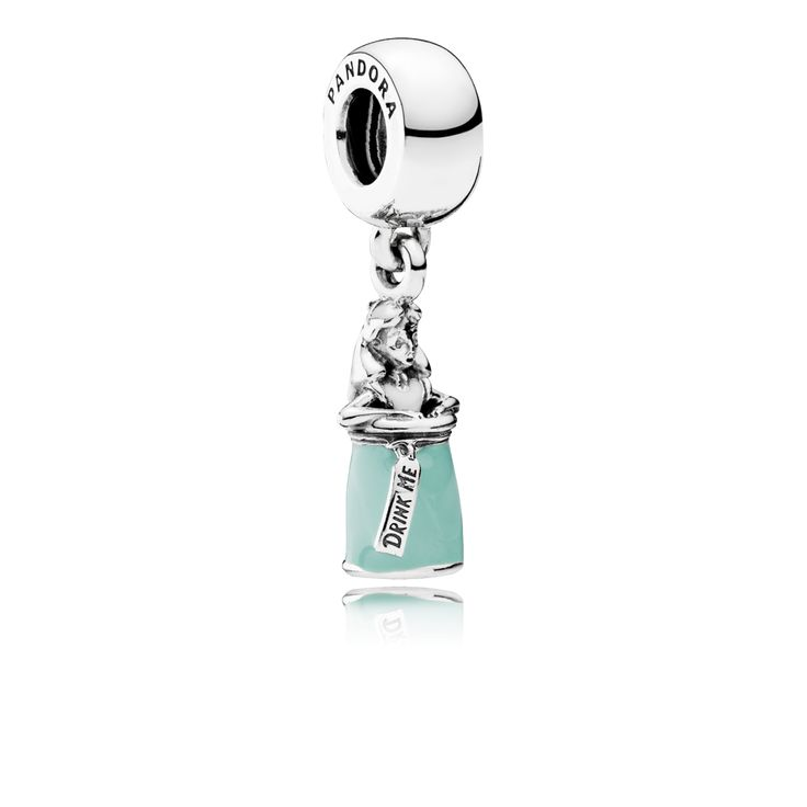PANDORA | Disney, Alice's Magic Potion, White & Mint Enamel