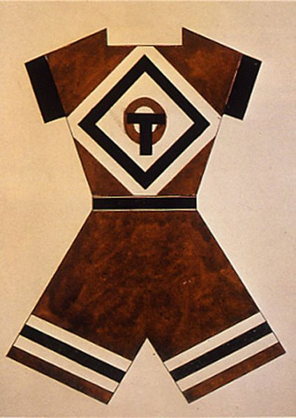 Women's sport outfit by Barbara Stepanova, USSR c. 1920 I chose this picture because this was how the women's sports outfits looked in 1920s and this is how today's cheer leading outfits look except there skirts.
