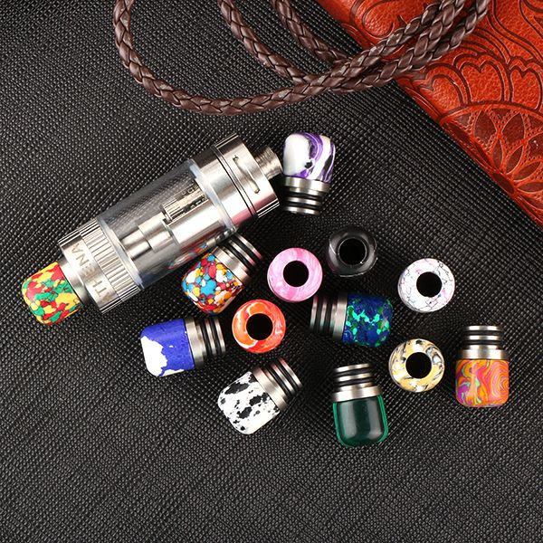Sailing electronic cigarette stone 510 drip tips tophus dual O rings pure handmade Natural and beautiful pattern 10pcs wholesale #Affiliate