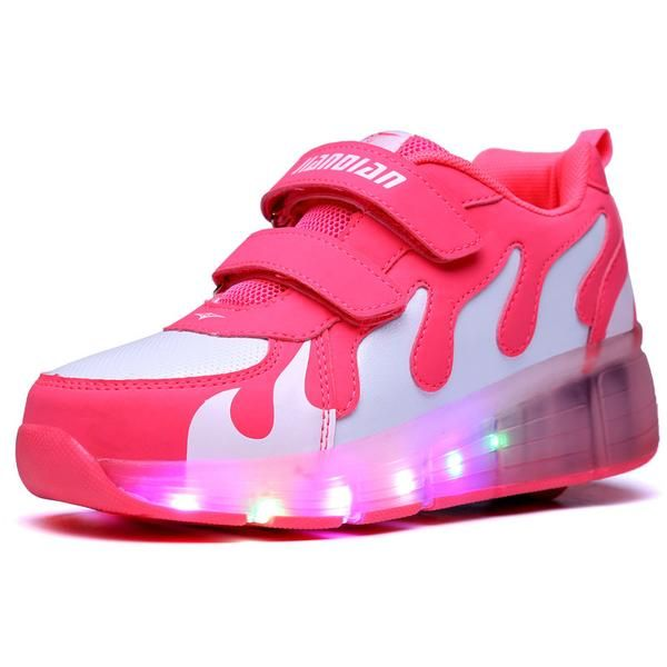 Junior Girls Boys LED Light Sneaker, Child Jazzy Roller Skate Shoes With Wheels, Kids Sneakers