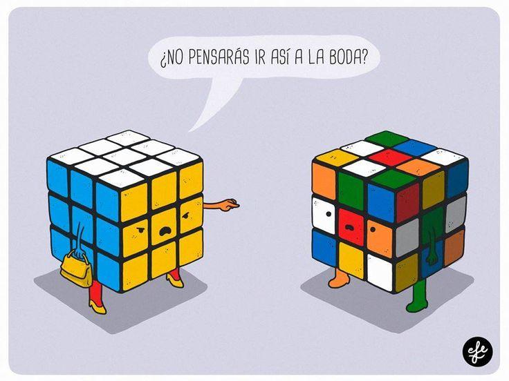 La vida de un cubo de rubiq es complicada