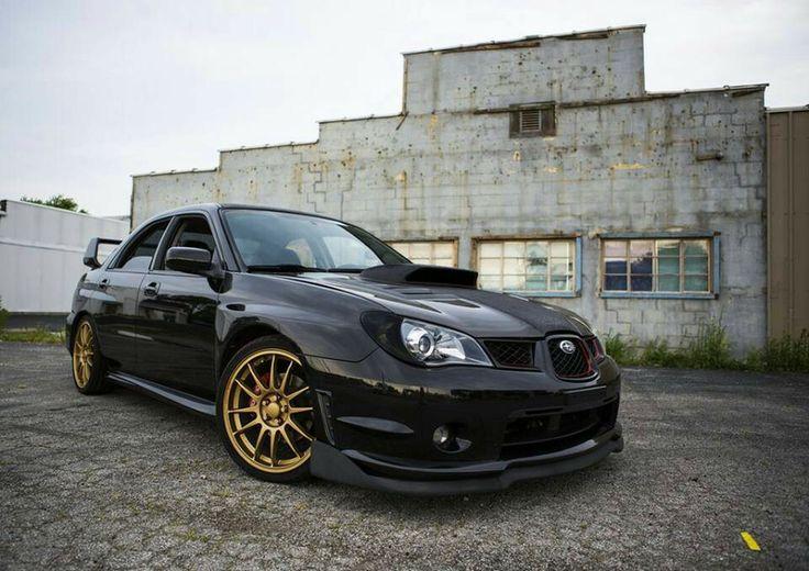 Black Subaru With Gold Wheels Mmm Cars Pinterest
