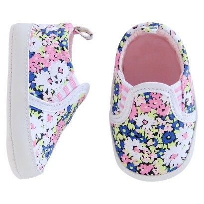 Just One You™ Made by Carter's® Baby Girls' Floral Sneaker - Multicolored NB
