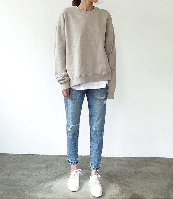 Ein regelmäßiges Sweatshirt. So schwer zu finden
