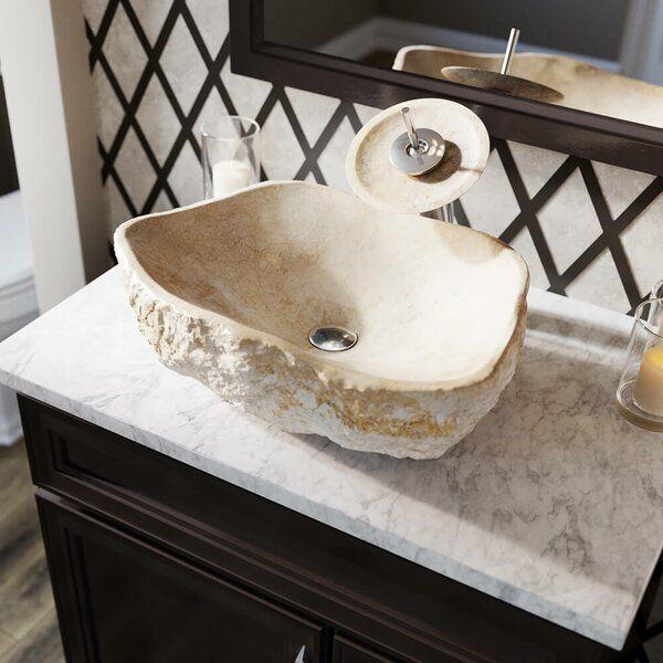 Galaga Stone Specialty Vessel Bathroom Sink Beige Marble Stone Vessel Sinks Bathroom Sink