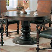 "Coaster Riverside 54"" Round Semi-Formal Dining Table in Dark Wood Finish - 180030"