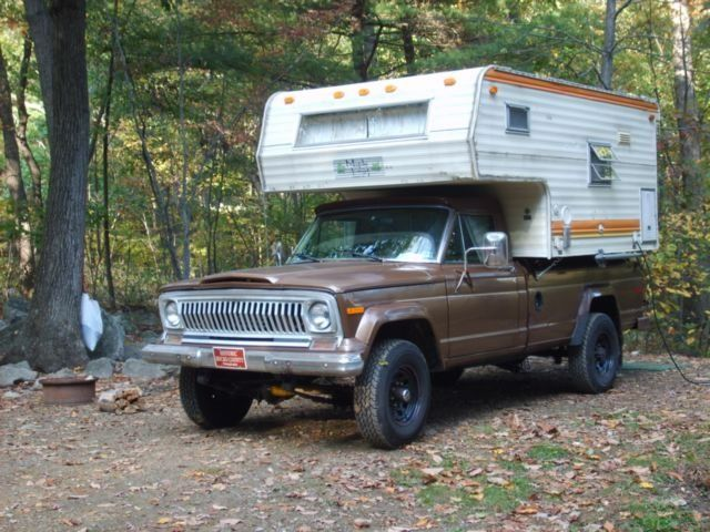 1978 Jeep J20 With Maple Leaf Quot Slide In Quot Camper Full