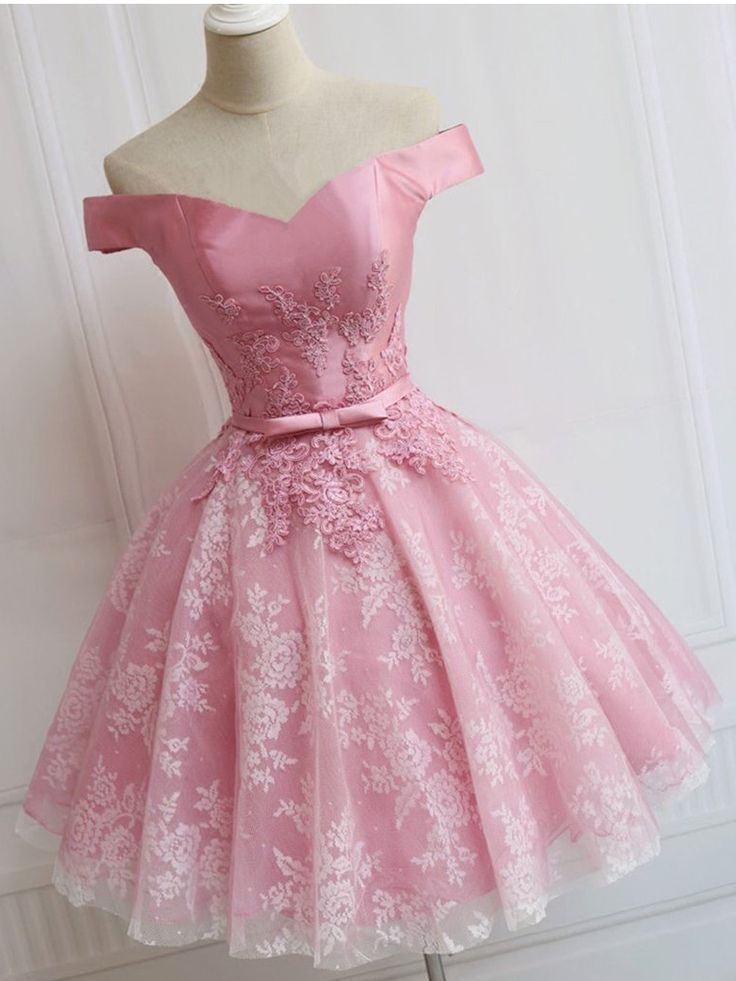 A-line Off-the-shoulder Short Mini Tulle Short Prom Dress Homecoming Dresses SKY373