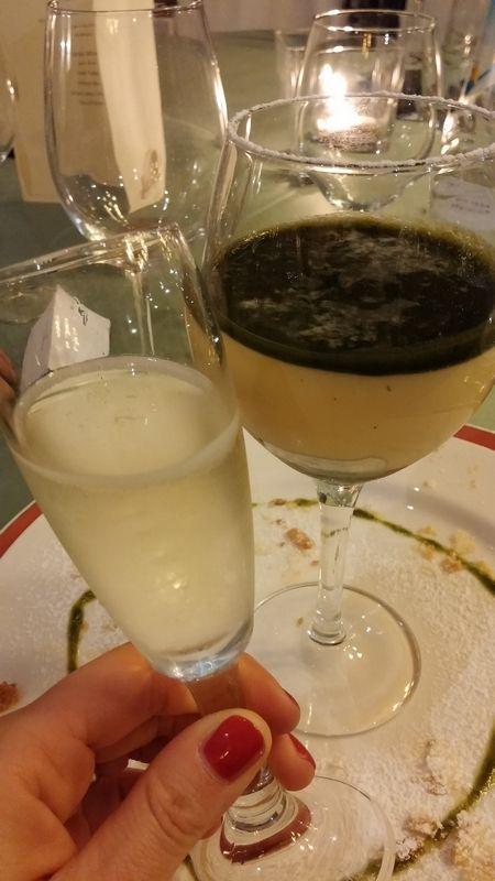 Cena del #Broccoletto di #Custoza al #Ristorante #Antico #Ristoro a #Sommacampagna #Verona. #Dessert accompagnato da #Estro di #Piona