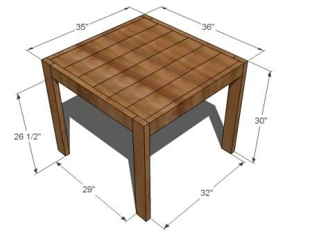 How To Make Your Own End Table   Cute U0026 Cheap! Ana White Build A Square  Modern Farmhouse Table Free And Easy DIY Project And Furniture Plans