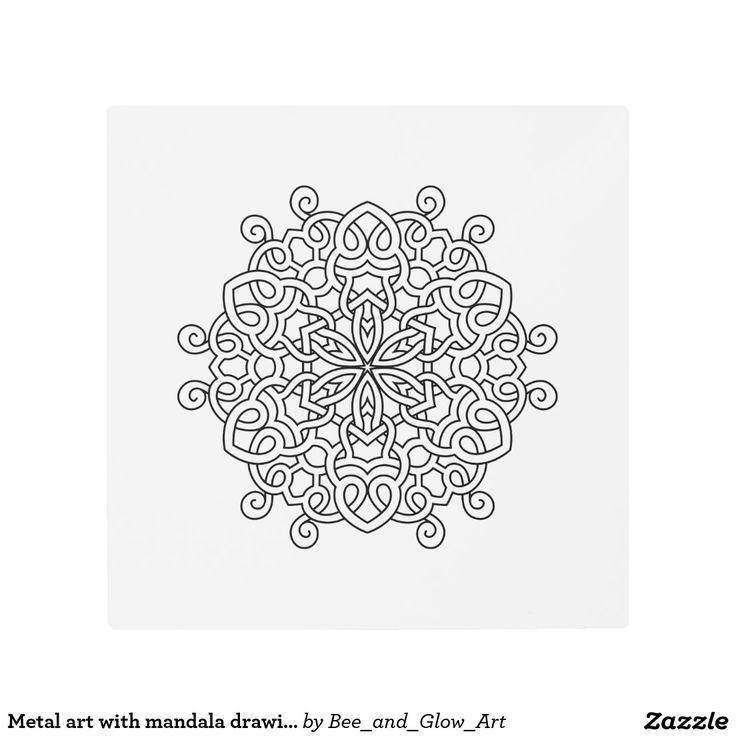 Metal art with mandala drawing