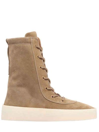 YEEZY SUEDE LACE UP BOOTS. #yeezy #shoes #