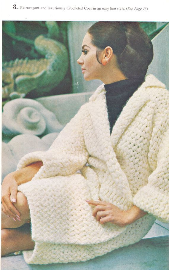 Crochet Coat Pattern INSTANT DOWNLOAD PDF by SuesUpcyclednVintage