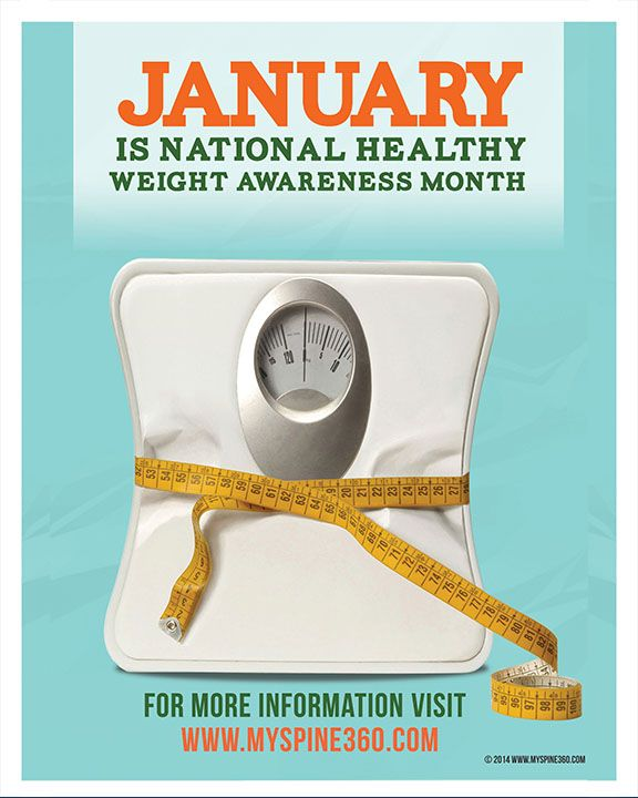 January Is National Healthy Weight Awareness Month Free