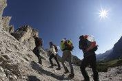 Sports: Hiking in summer - Seiser Alm, Switzerland