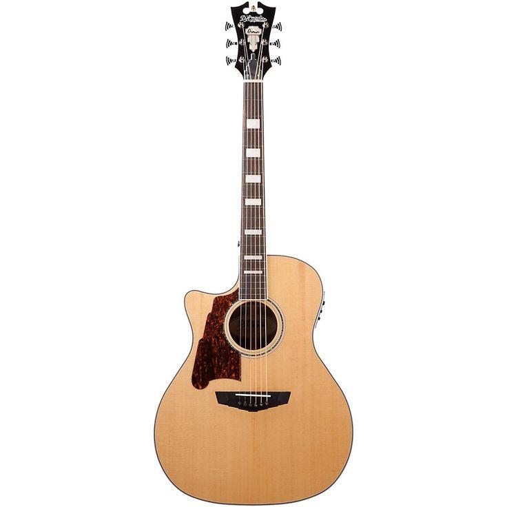 D'Angelico Premier Gramercy Left Handed Acoustic Guitar Natural