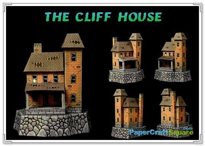 Haunted House Craft Pattern | 2011 Halloween – Cliff House Papercraft & Haunted House PopUp