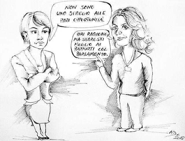 #VIGNETTA: #Carfagna vs #Guzzanti