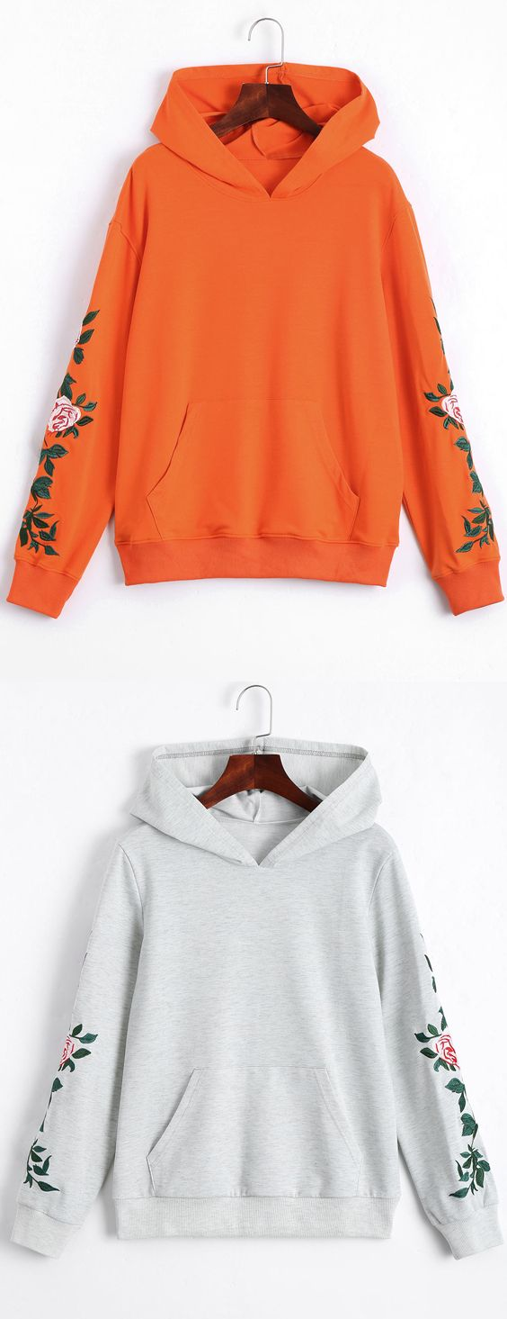 Up to 80% OFF!  Floral Patched Front Pocket Hoodie. Zaful,zaful.com,zaful fashion,tops,womens tops,outerwear,sweatshirts,hoodies,hoodies outfit,hoodies for teens,sweatshirts outfit,long sleeve tops,sweatshirts for teens,winter outfits,fall outfits,tops,sweatshirts for women,women's hoodies,womens sweatshirts,crop top hoodie,cute sweatshirts,floral hoodie,crop hoodies,designer hoodies,oversized sweatshirt @zaful Extra 10% OFF Code:ZF2017